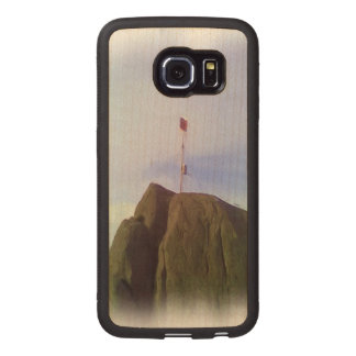 The mountain top wood phone case