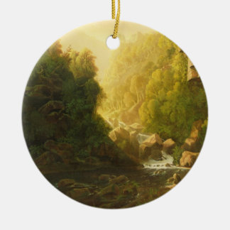 The Mountain Torrent, c.1820-30 (oil on canvas) Christmas Ornament