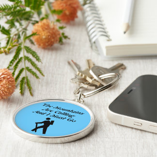 The Mountains Are Calling And I Must Go Silver-Colored Round Key Ring