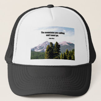 The mountains are calling and I must go. Trucker Hat