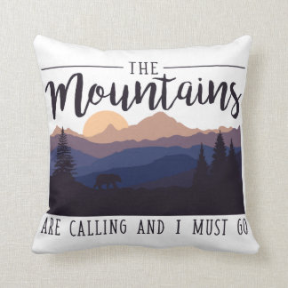 The Mountains are Calling Cushion