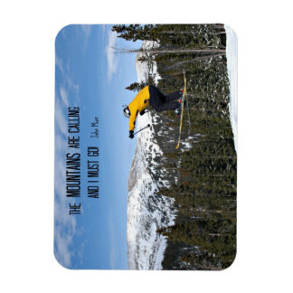 The Mountains are calling... Rectangular Photo Magnet