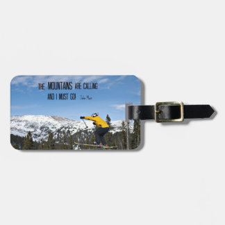 The Mountains are calling... Tags For Luggage