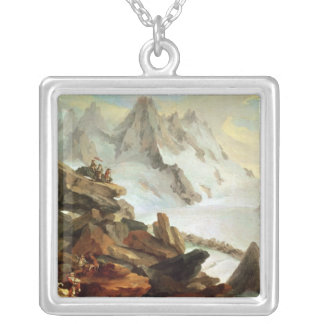 The Mountains at Lauteraar, 1776 Silver Plated Necklace