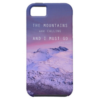 The mountains plows calling, and i must go. John M iPhone 5 Covers