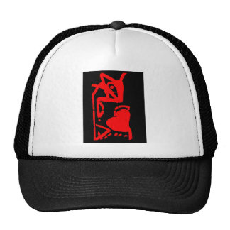 The mouse eating heart trucker hat