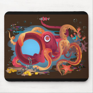 The mousepad with octopus picture