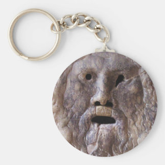 The Mouth of Truth Basic Round Button Key Ring