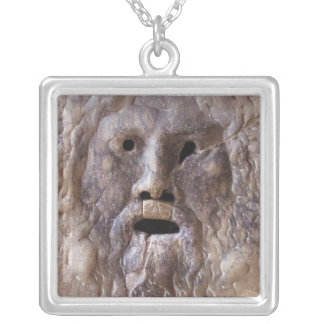 The Mouth of Truth Silver Plated Necklace