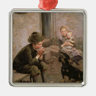 The Mouth Organ Player Christmas Ornament