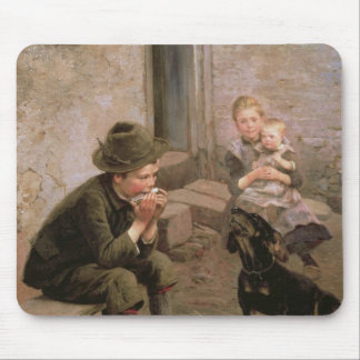 The Mouth Organ Player Mouse Mat