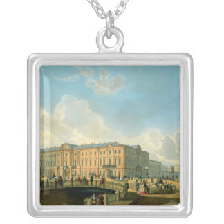 The Moyka Embankment and the Police Bridge Silver Plated Necklace