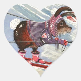 The Ms. Elizabeth Ski Team Heart Sticker