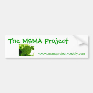 the msma project bumber sticker