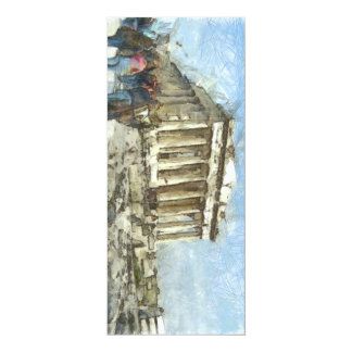 The much visited Acropolis 10 Cm X 24 Cm Invitation Card