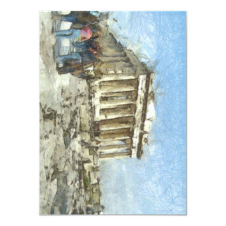 The much visited Acropolis 11 Cm X 16 Cm Invitation Card