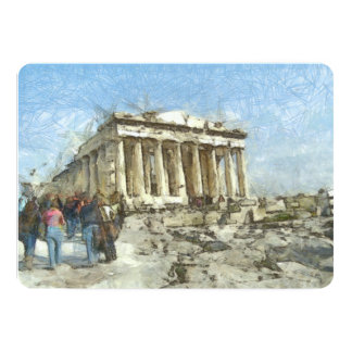 The much visited Acropolis 13 Cm X 18 Cm Invitation Card