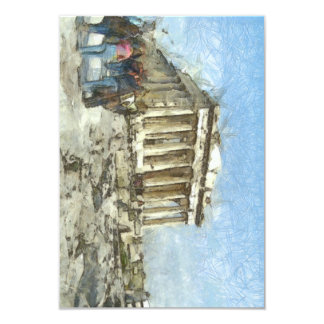 The much visited Acropolis 9 Cm X 13 Cm Invitation Card