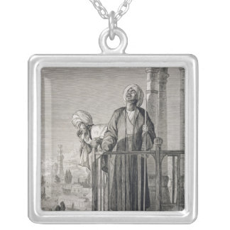 The Muezzin's Call to Prayer, 19th century Silver Plated Necklace