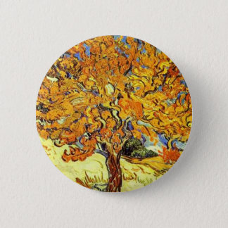 The Mulberry Tree, Vincent Van Gogh 6 Cm Round Badge