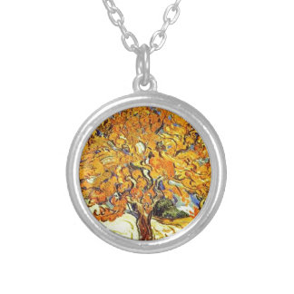 The Mulberry Tree, Vincent Van Gogh Silver Plated Necklace