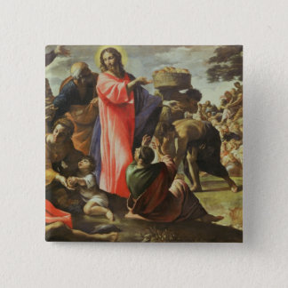 The Multiplication of the Loaves and Fishes 15 Cm Square Badge
