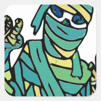 The Mummy 2 - alt colors Square Sticker