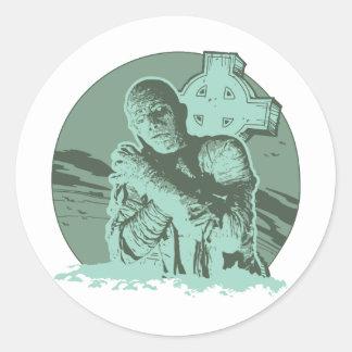 The Mummy Round Stickers