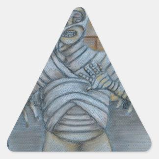 The mummy triangle sticker