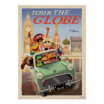 The Muppets Tour the Globe Print