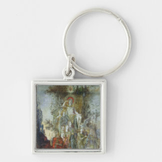The Muses Silver-Colored Square Key Ring
