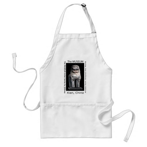 The MUSEUM Artist Series by jGibney  Stone Lion Apron