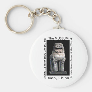 The MUSEUM Artist Series by jGibney  Stone Lion Basic Round Button Key Ring