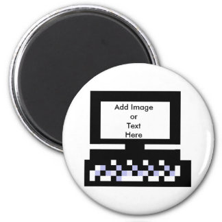 The MUSEUM Artist Series Images Computer Bk 6 Cm Round Magnet