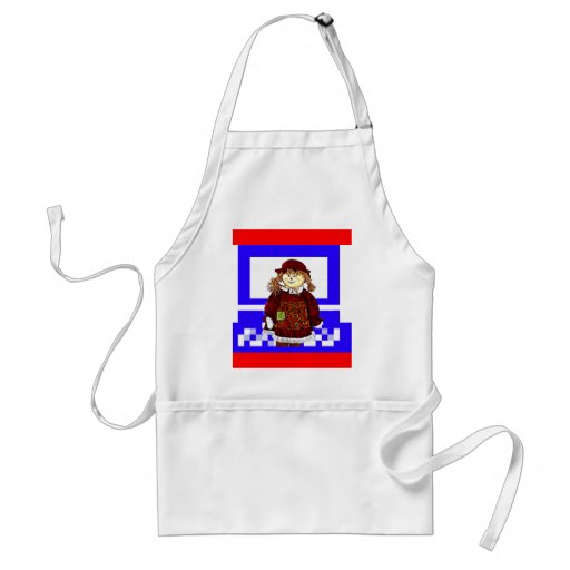 The MUSEUM Artist Series Images Computer StrawGirl Apron