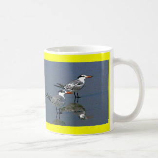 The MUSEUM Artist Series jGibney Birds2CocoaBeach1 Basic White Mug