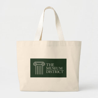 The Museum District logo Large Tote Bag