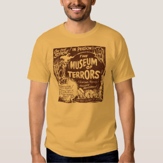 The Museum Of Terrors Vintage Spook Show Poster Tshirt
