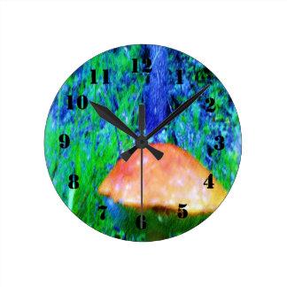 The Mushroom Round Clock