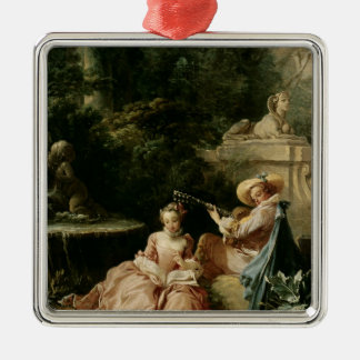 The Music Lesson, 1749 Christmas Ornament