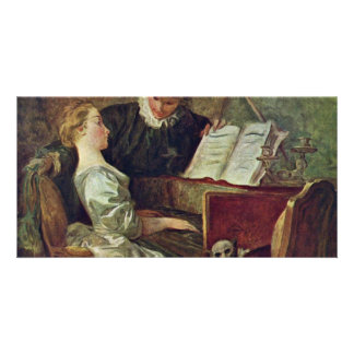 The Music Lesson,  By Fragonard, Jean-Honoré (Best Photo Greeting Card