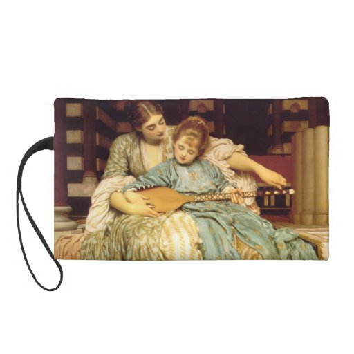 The Music Lesson by Frederic Leighton Wristlet Purse