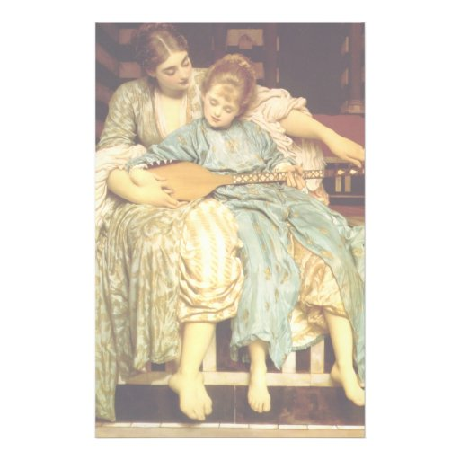 The Music Lesson by Frederic Leighton Custom Flyer