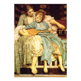 The Music Lesson by Frederic Leighton Invitations