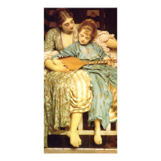 The Music Lesson by Frederic Leighton Photo Cards