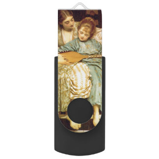 The Music Lesson by Frederic Leighton Swivel USB 2.0 Flash Drive
