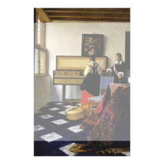 The Music Lesson by Johannes Vermeer 14 Cm X 21.5 Cm Flyer