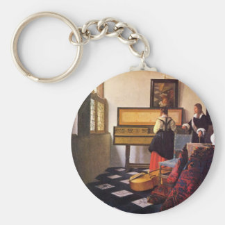 The music lesson by Johannes Vermeer Key Ring
