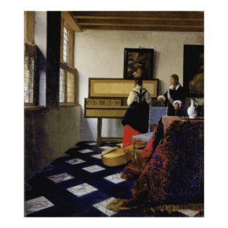 The Music Lesson by Johannes Vermeer Print