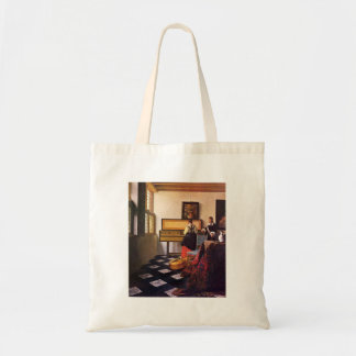 The music lesson by Johannes Vermeer Budget Tote Bag